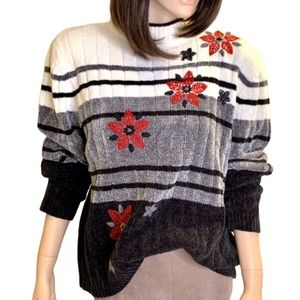 Alfred Dunner Vintage Color Block Pull Over Sz XL